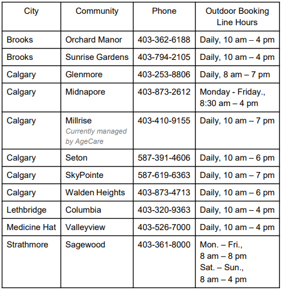 Outdoor Booking Hours